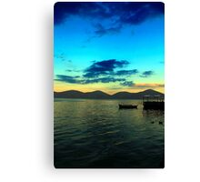 Dusk over Elounda  Canvas Print