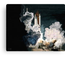 Launch in the Dark - Space Shuttle Columbia STS 93 Canvas Print