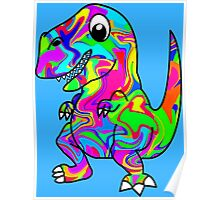 Colorful Dinosaur Poster