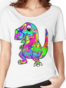 Colorful Dinosaur Women's Relaxed Fit T-Shirt