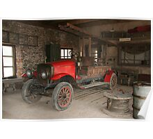 Antique fire-engine Poster