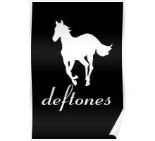 New DEFTONES White Pony Rock Band Logo Men's Black T-Shirt Poster