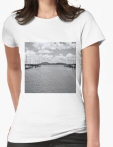 Tranquil river view Womens Fitted T-Shirt