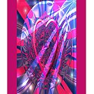 Heart In A Bubble Fractal - (iPhone Case) by judygal