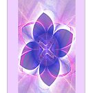 Purple Lotus Fractal (iPhone Case) by judygal