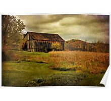 Old Barn in October Poster