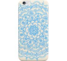 Pale Blue Pencil Pattern - hand drawn lace mandala iPhone Case/Skin