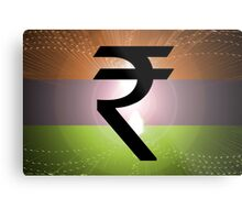Indian Rupee Background Metal Print
