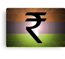 Indian Rupee Background Canvas Print