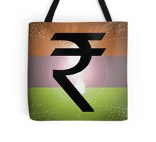 Indian Rupee Background Tote Bag