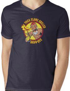 Yoga Flame Grilled BBQ Mens V-Neck T-Shirt