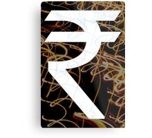 Indian Rupee  Metal Print