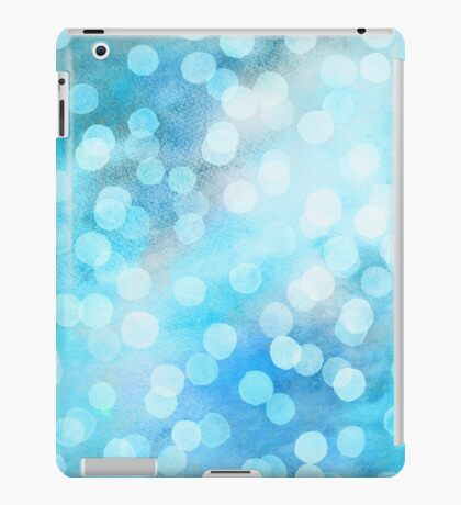 Turquoise Snowstorm - Abstract Watercolor Dots iPad Case/Skin