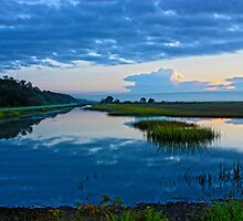 Breaking Sunrise Low Country Marsh by Mike Savlen