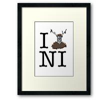 Knights who say Ni Framed Print