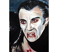 Christopher Lee as Dracula Photographic Print