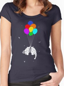 Flying Ankylosaur Women's Fitted Scoop T-Shirt