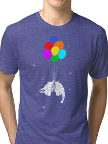 Flying Ankylosaur Tri-blend T-Shirt