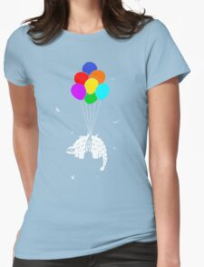 Flying Ankylosaur Womens Fitted T-Shirt