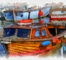 Boats in West Bay, Dorset, UK by buttonpresser