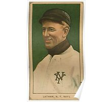 Benjamin K Edwards Collection Arlie Latham New York Giants baseball card portrait Poster