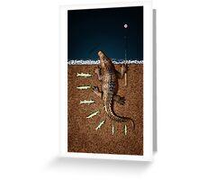 Animal Art - Fishy Crocodile Greeting Card