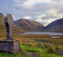 Doolough Tragedy Cross in Co.Mayo Ireland. by MickBourke