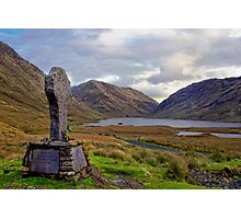 Doolough Tragedy Cross in Co.Mayo Ireland. Photographic Print