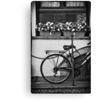 Bicycle with flowers Canvas Print