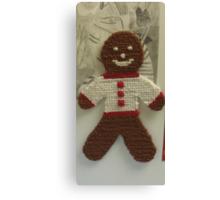 Gingerbread Cross Stitch Magnet Canvas Print