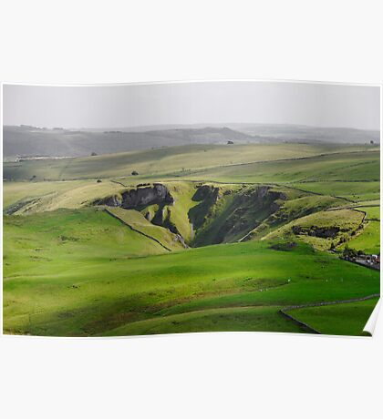 Winnats Pass from Mam Tor Poster
