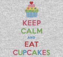 Keep Calm and Eat Cupcakes 5  Kids Tee