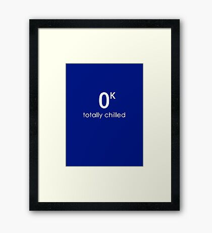 Totally Chilled Framed Print