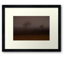 Spooky Autumn Night Framed Print