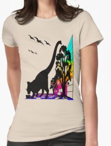 CATASAURUS Womens Fitted T-Shirt
