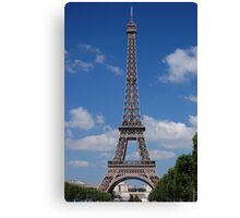 Eiffel Tower from the Champ de Mars (Aug 2008) Canvas Print