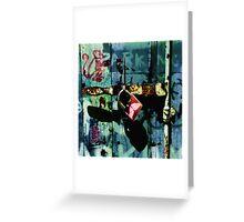 Urban Scrawls Graffiti - Monkey Business Greeting Card