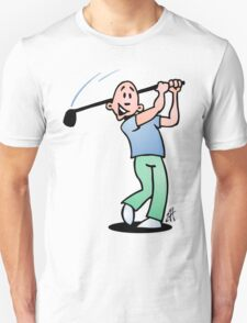 Golf, golfer taking a swing at it. T-Shirt