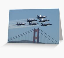 Blue Angels 1-6 and the Golden Gate Bridge Greeting Card