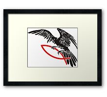 Raven with fish... Framed Print