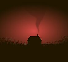 Gloomy House silhouette by violetcold