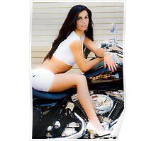 Alina on Bike Poster