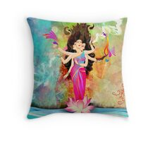 Diwali-with-Goddess-Lakshmi Throw Pillow