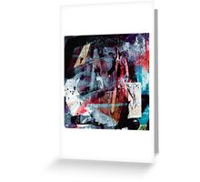 Urban Scrawls Graffiti - Left Greeting Card