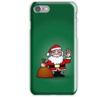 Santa Claus waving iPhone Case/Skin