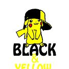 Black and Yellow ( Pika Pika ) Iphone Case ! by deadpoolRKO