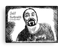 funny self portrait Canvas Print