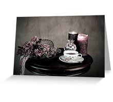 Olde Time Tea Party Setting for One Greeting Card