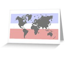 Harmonic earth map Greeting Card