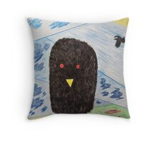 Bird Makes Fancy Self Portrait Throw Pillow